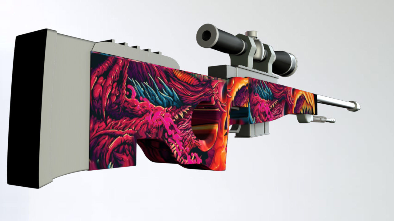 HYPERBEAST AWP SNIPER RIFFLE   Low Poly