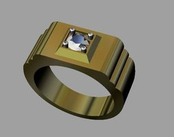 3D printable model Diamond Man Ring