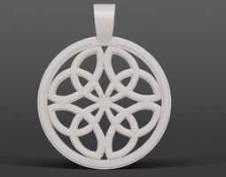 3D printable model Dara Knot Pendant