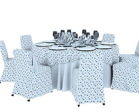 Dining Table 7 Seater 3D printable model