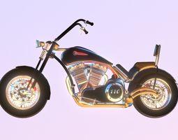 3D model Harley Davidson Chopper Custom