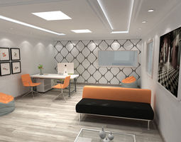 office interior design 3D model