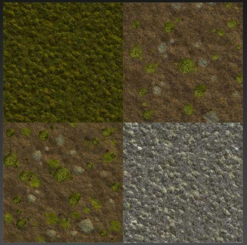 pbr procedural moss materials 3d model max fbx sbsar 1