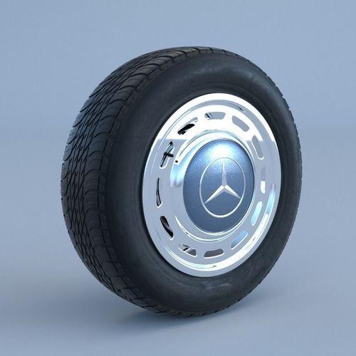 mercedes-benz classic wheel 3d model obj mtl fbx blend 1