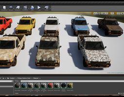 Pickup Vehicle Pack 3D model
