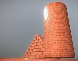 3D model game-ready Brick Wall 1 - Texture Set 9