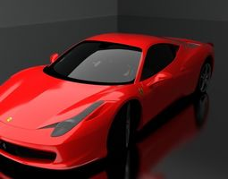 superxar 3D model Ferrari 458 Italia