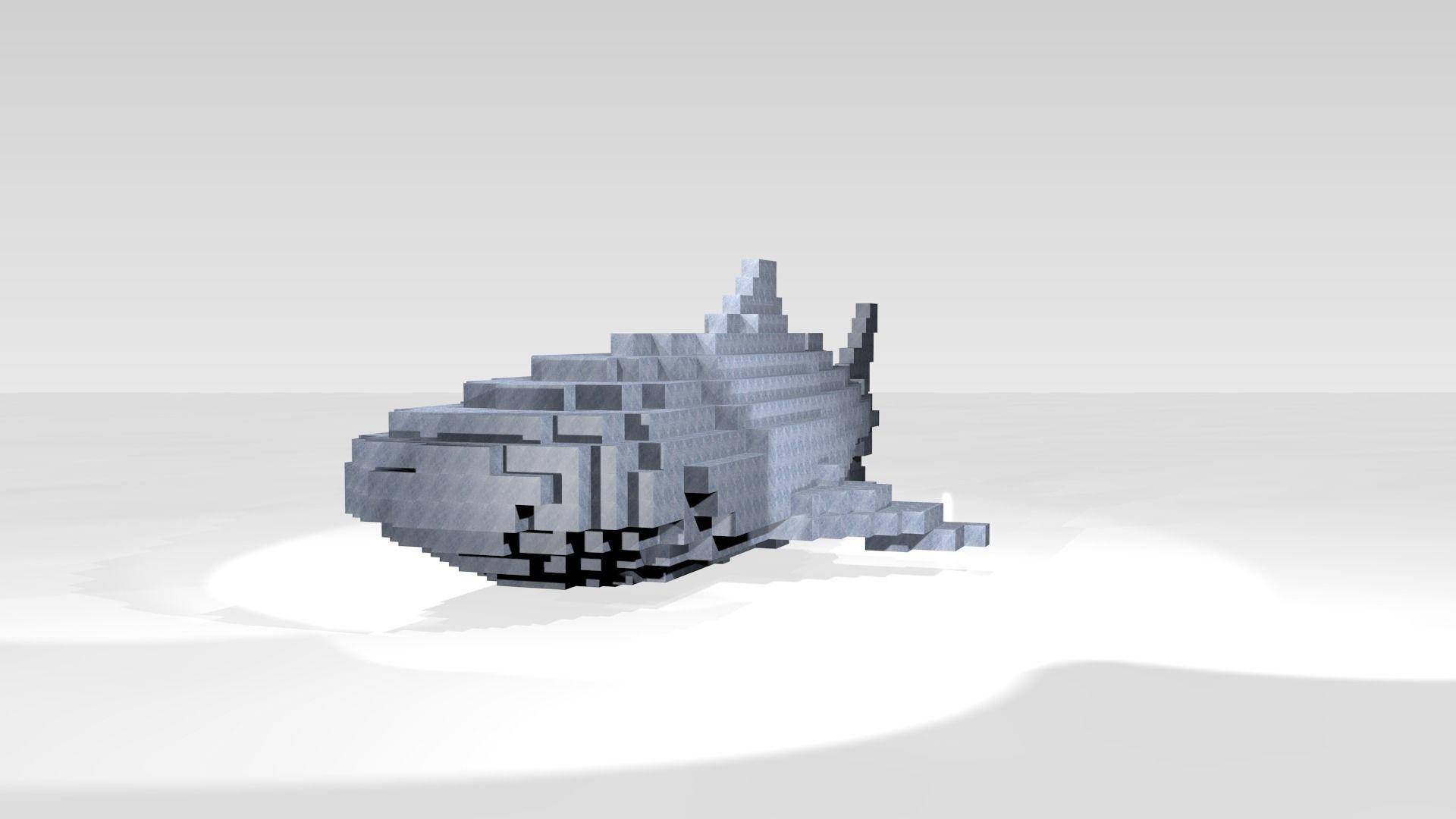 Whaleshark Voxel | 3D model