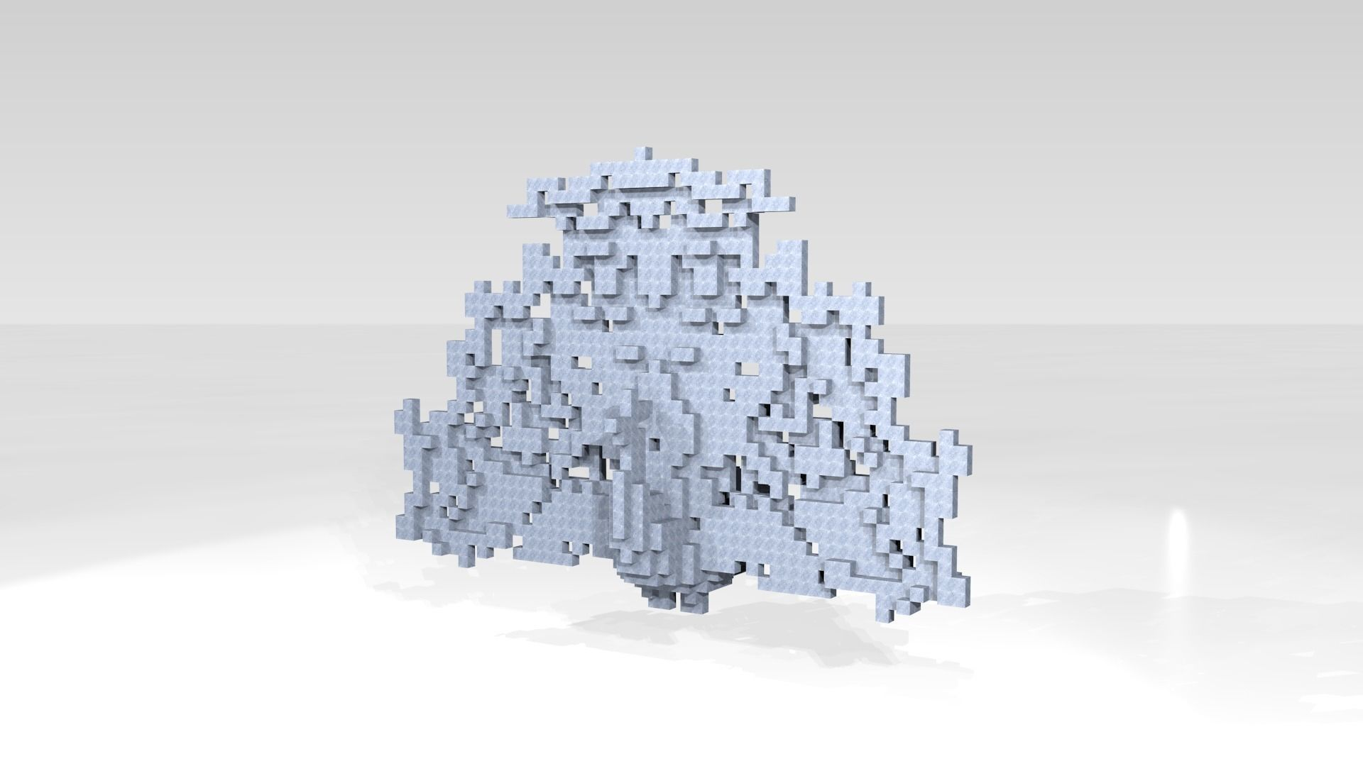 Peafowl Voxel | 3D model