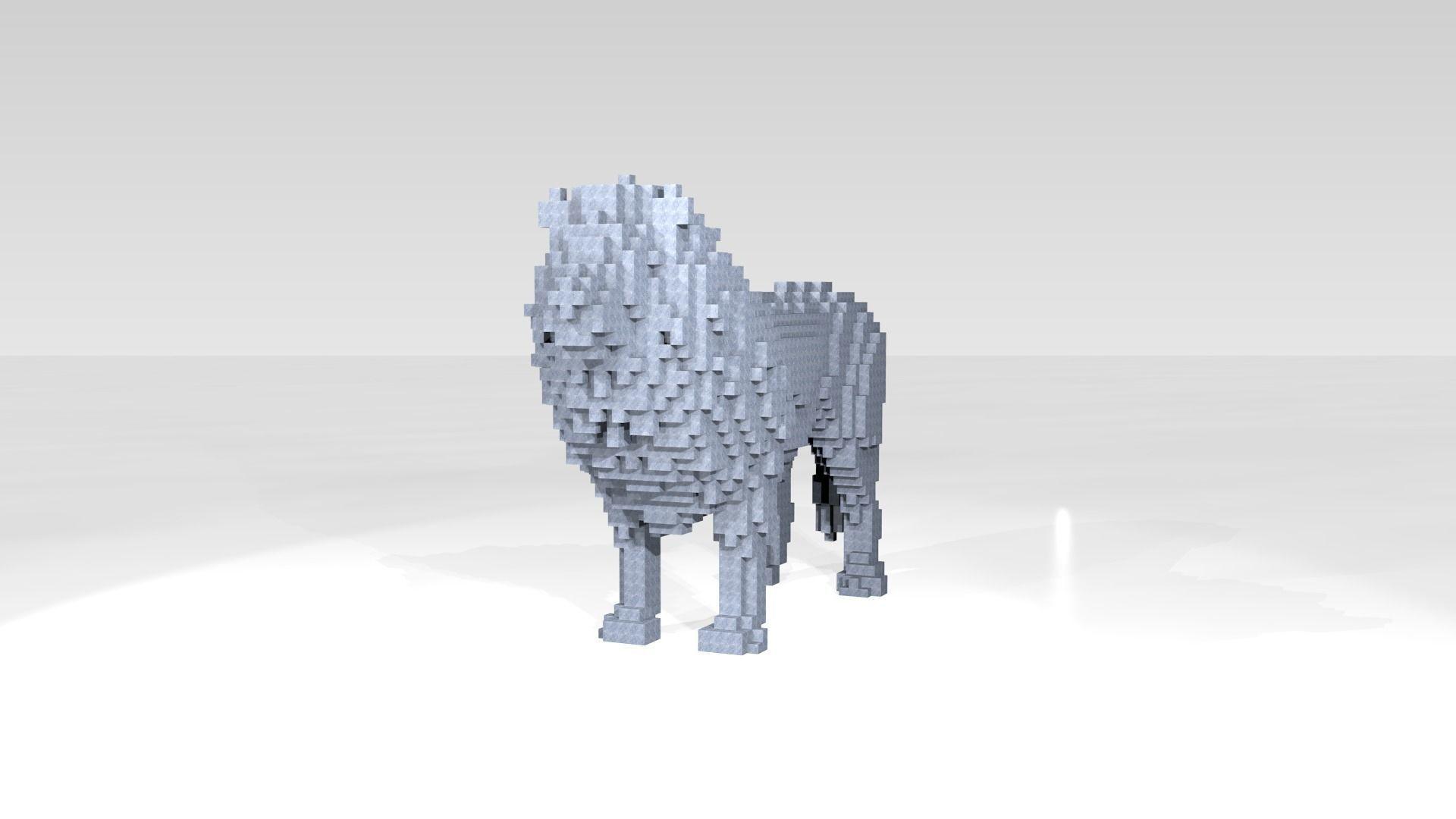 Lion Voxel | 3D model