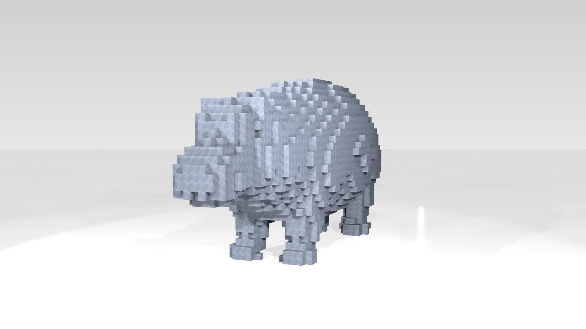 Hippo Voxel | 3D model