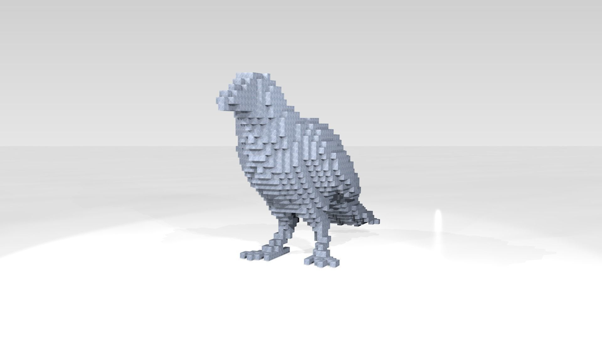 Crow Voxel | 3D model