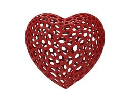 Heart necklace with slot 3D print model