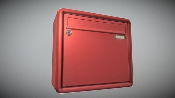 mailbox 1 -  low-poly-verion 3d model low-poly obj mtl 3ds fbx dxf stl blend 1
