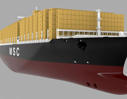 3D model MSC CONTAINER SHIP