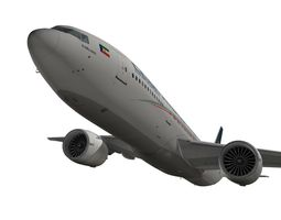 3d boeing 777-200lr ceiba intercontinental airlines animated