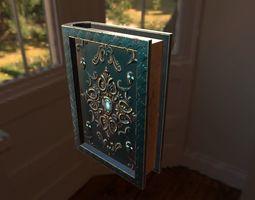 3D model magical book