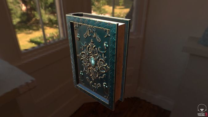 magical book 3d model fbx 1