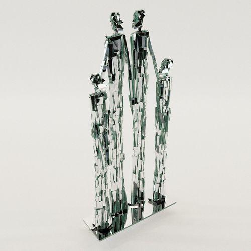 sculpture of family - 60th years 3d model max obj mtl fbx pdf 1