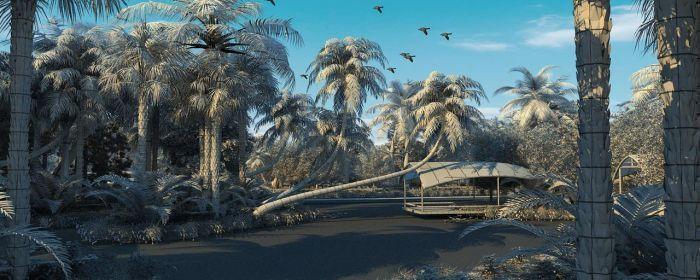 Exterior: Wetland Scene 3D Model MAX