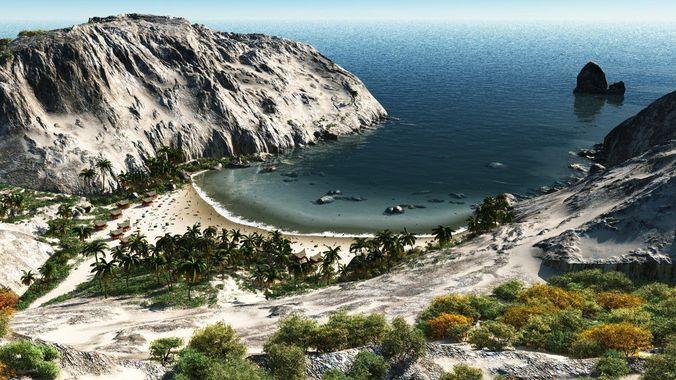 sandy bay in vue 3d model vue 1