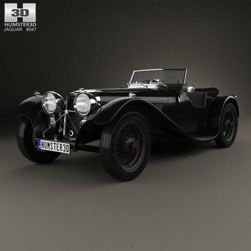 ss jaguar 100 1936 3d model max obj mtl 3ds fbx c4d lwo lw lws 1