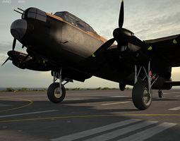 3D model bomber Avro Lancaster