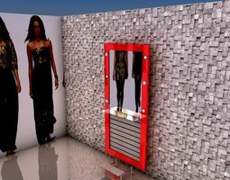 Hair dresser cabinet 5 3D