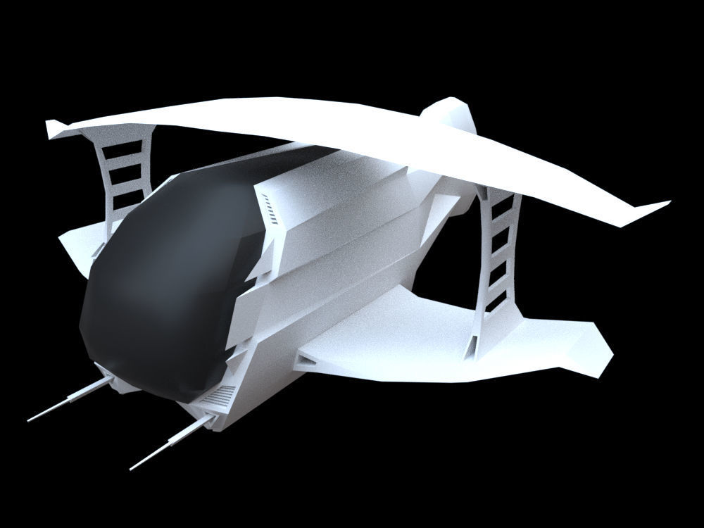 Space BiPlan | 3D model
