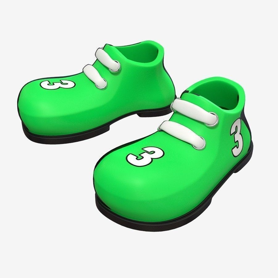 3d model cartoon shoes cgtrader