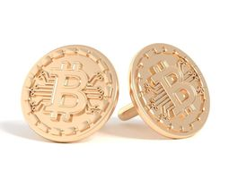 3D printable model Cufflinks bitcoin cufflinks