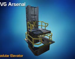 3D model Modular Elevator - HQ