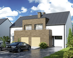 Model of a modern home