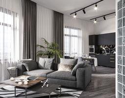 hotelroom 3D model hotel room