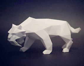 3D print model low Saber Toothed Tiger