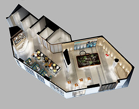 3D model Detailed Office reception Interior Scene
