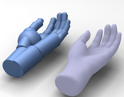 reverse engineered hand model using simple features 3d