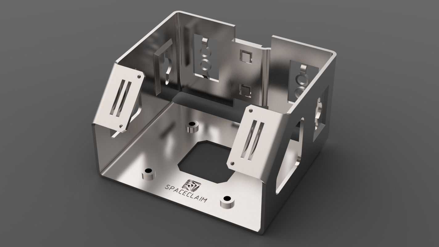 Sheetmetal Part Free 3d Model Dxf Stl Dwg Skp Ige Igs Iges