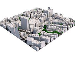 3D model London city tile Level 2 block TQ2979 South West