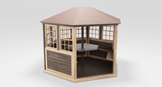 arbor wood 3d model low-poly max obj mtl fbx 1