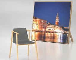 3D Wooden Chair With Felt