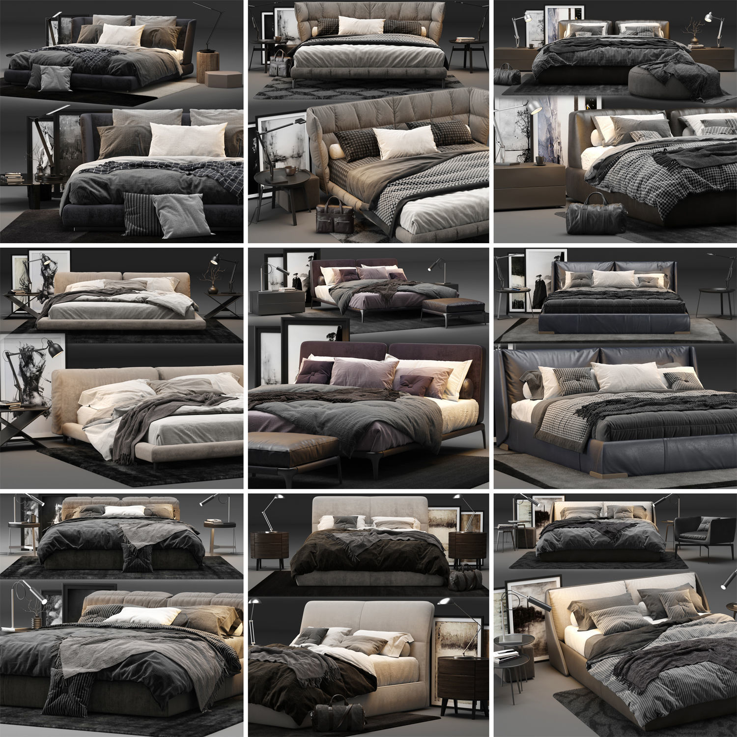 Bed Colection 01 - 10 Items