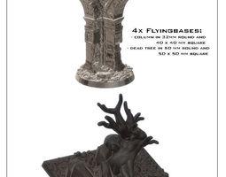 3D printable model 4 bases for flying minitures -STL
