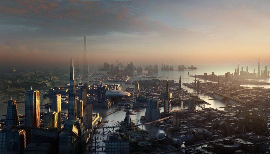 Sci Fi City 3d Model Max Cgtrader Com
