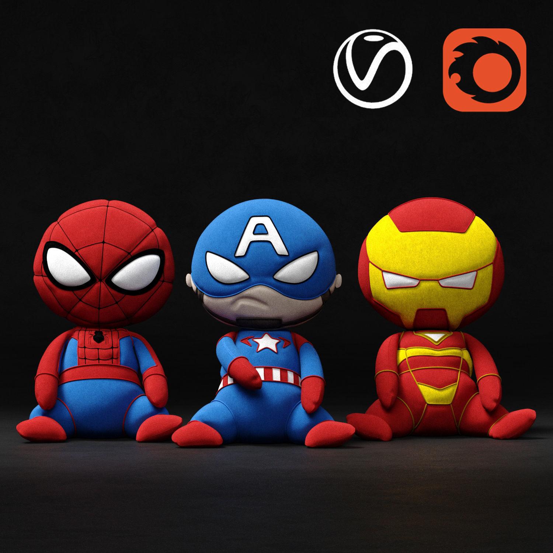 Marvel soft toys superheroes