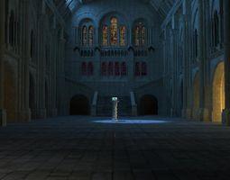 3d animated castle interior