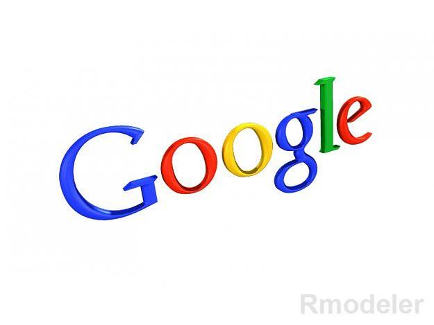 google 3d logo 3d model obj ma mb dae 1