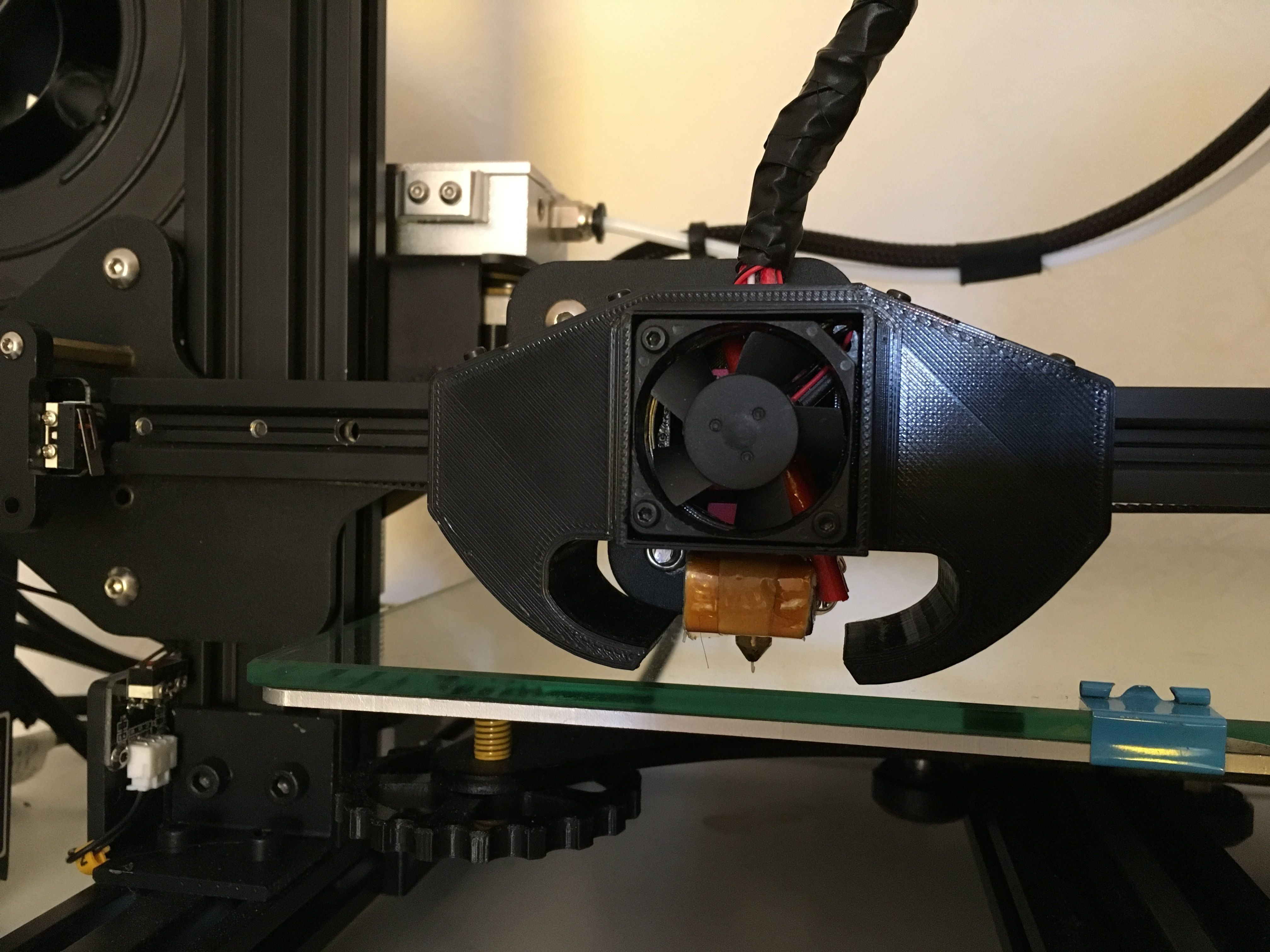 CR-10 Creality 3d Triple Fan Nozzle   3D Print Model