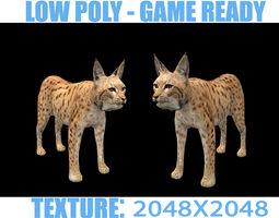 3D asset lynx lowpoly