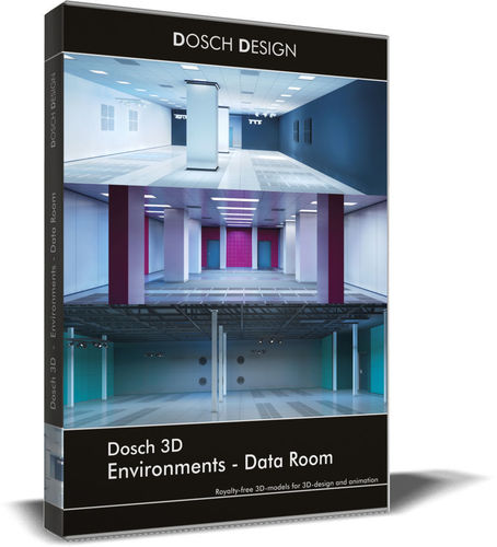 dosch 3d - environments - data room 3d model max obj 3ds fbx c4d lwo lw lws 1